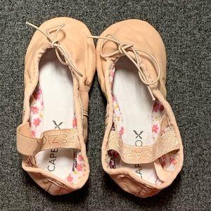 Capezio Pink Daisy Leather Soft Ballet Shoe 8